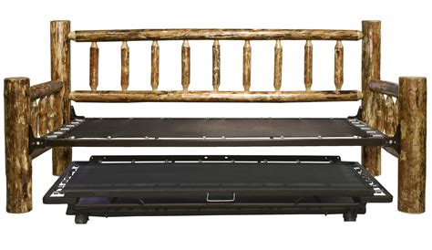 Log Bunk Beds With Trundle Rustic Furniture Cabin Accents The Carolina Cabin Store Autos Post