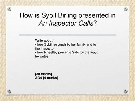 an inspector calls aqa 0008235910 mock revison year 10 an inspector calls
