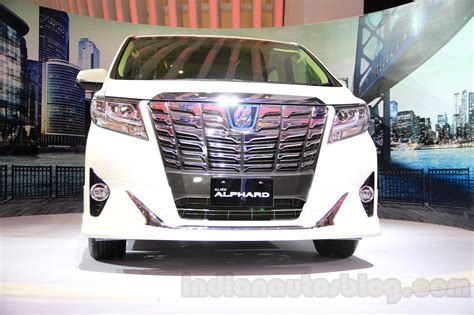 toyota alphard hybrid front at the gaikindo indonesia