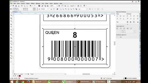 Corel Draw X7 Barcode | coreldraw x7 sticker barcode creative youtube