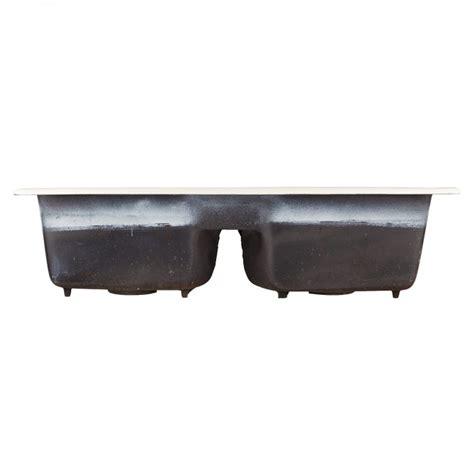 cast iron drop in kitchen sink 43 quot selkirk bisque bowl cast iron drop in kitchen
