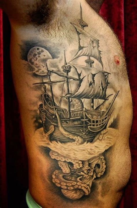 pirate ship tattoo meaning 95 best pirate ship designs meanings 2018