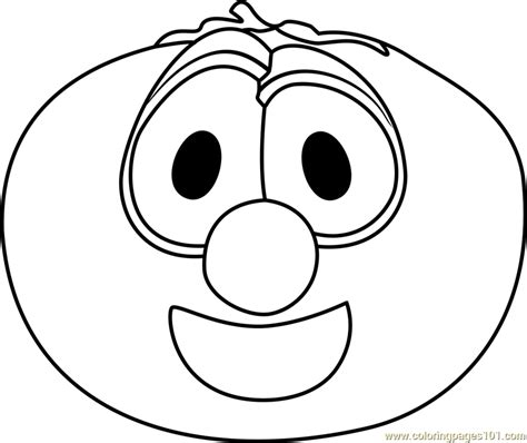 veggie tales coloring pages bob the tomato coloring page free veggietales coloring