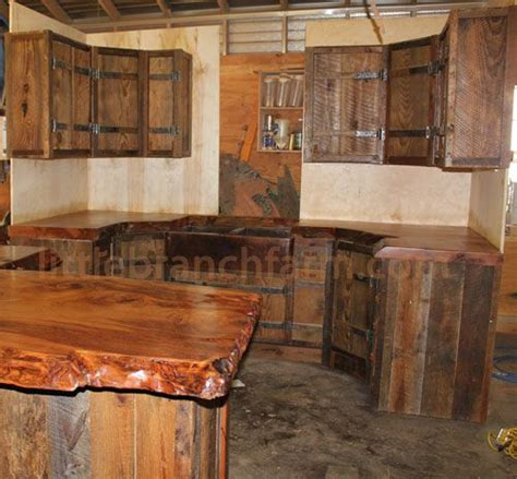 rustic kitchen furniture 1000 ideas about barn wood cabinets on wood