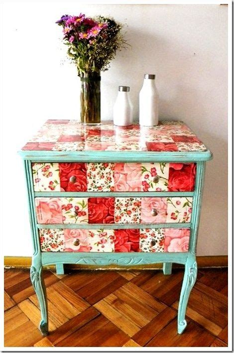 decoupage furniture with scrapbook paper 45 best decoupage furniture images on