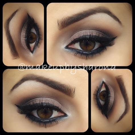 what color eyeshadow for brown cat eye makeup by sharona