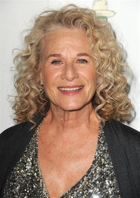 Frizzy Aged Hair | the best curly hairstyles for women over 50 carole king