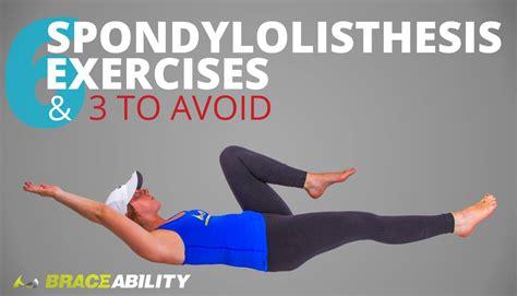 spondylolisthesis exercises    avoid