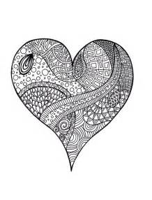 Other printable coloring pages of hearts for teenagers