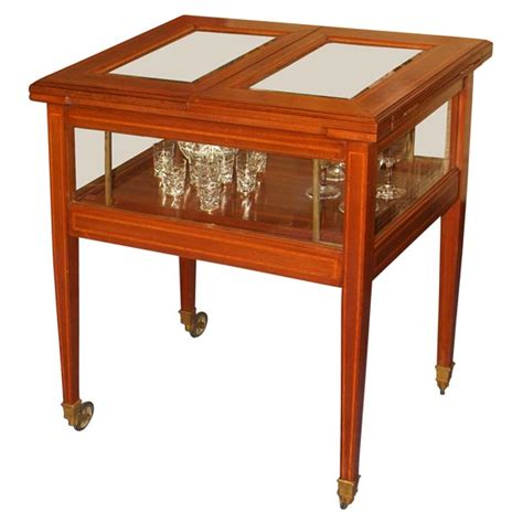 Pop Up Bar Cabinet Walnut Liquor Cabinet With Pop Up Shelf At 1stdibs