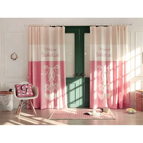 pink patterned curtains beige and pink patterned color block polyester and linen