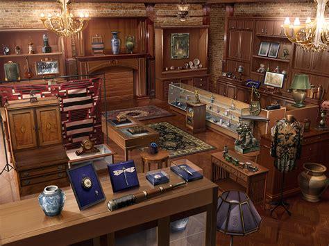 antique design antique shop vintage design interior room wallpaper
