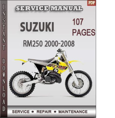 small engine repair manuals free download 2008 suzuki xl7 interior lighting suzuki rm250 2000 2008 factory service repair manual download dow
