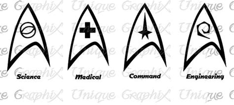 printable star trek logo star trek insignia symbols vinyl decal sticker by