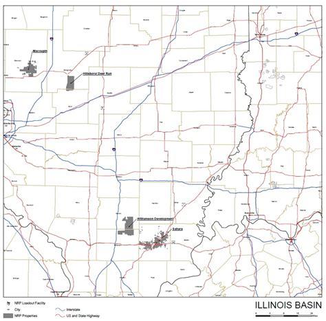 map of illinois basin coal mines percentage of total