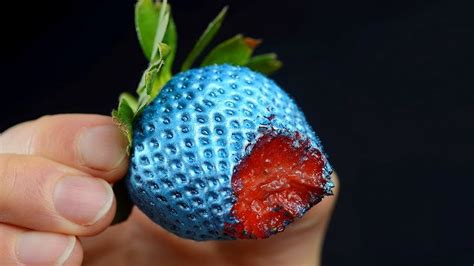 Strawberry Blue if you see a blue strawberry you are colorblind