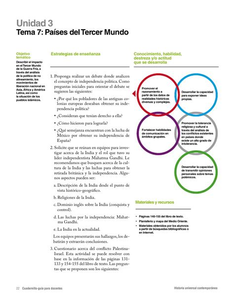 historia universal contemporanea preguntas cuadernillo gu 237 a para docentes historia universal