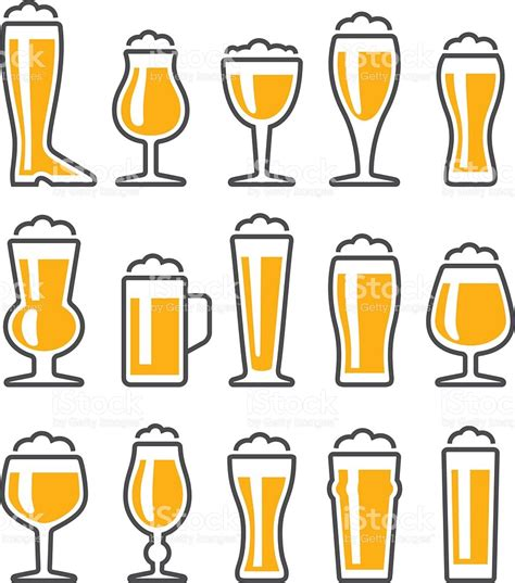 beer glass svg beer glasses icon set stock vector art more images of