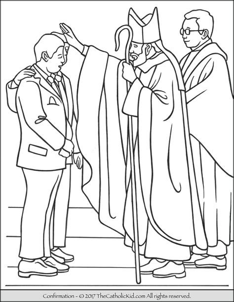 Confirmation Coloring Pages sacrament of confirmation coloring page thecatholickid
