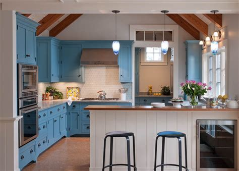 Light Blue Kitchen Light Blue Kitchen Cabinets Kitchen With House Bin Pull Beeyoutifullife