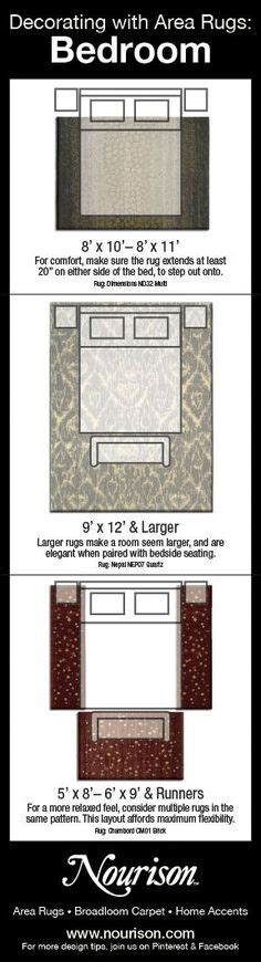 rug placement bedroom how to choose the right size rug runners infographic