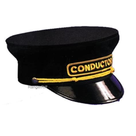 Visor Rr railroad conductor hat black mens cloth rental