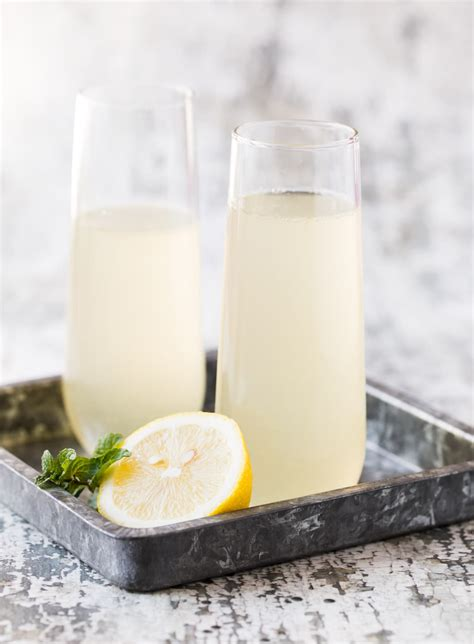 Elderflower French 75 Garnish With Lemon
