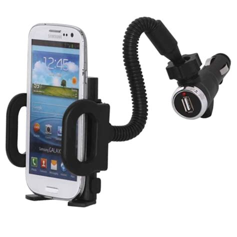 Porte Smartphone Voiture by Support Voiture Universel Et Chargeur Voiture Usb Pour