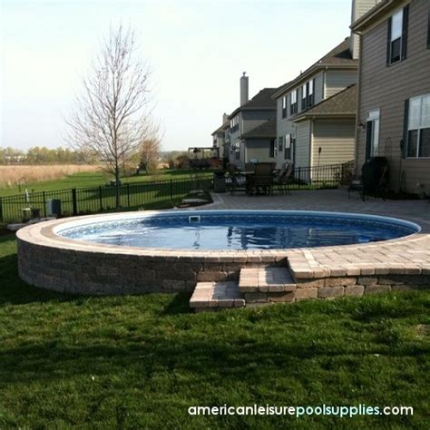 Above Ground Pool Landscaping American Leisure Pool Backyard Pool Supply