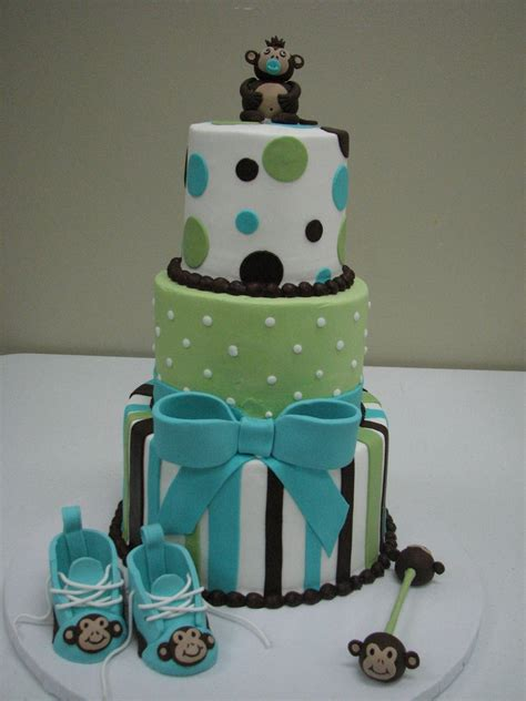 Baby Shower Monkey Cakes by Monkey Baby Shower Cake Cakecentral