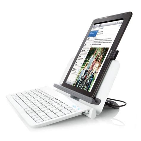 bluetooth tablet station  wireless keyboard  usb ports gadgetsin