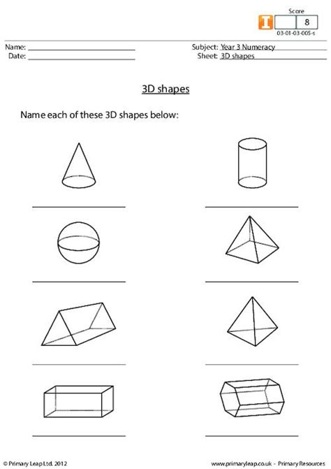 printable two dimensional shapes worksheets worksheets three dimensional shapes worksheets