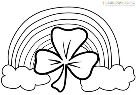 rainbow coloring page for adults drawn rainbow st patricks day pencil and in color drawn