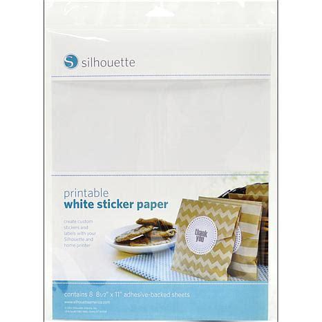 silhouette printable sticker paper 8 5 x11 8 pkg silhouette printable sticker paper 8 5x11 8 pkg white