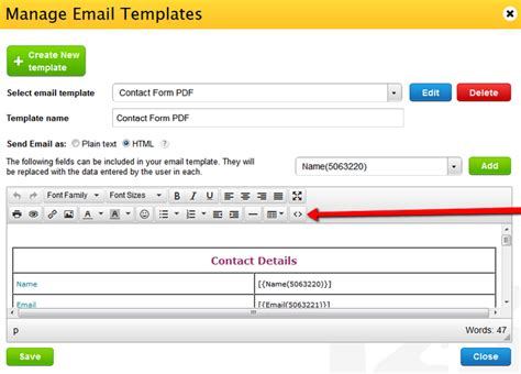 Change The Column Width In Email Notifications 123formbuilder Email Change Notification Template