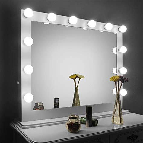 homelo white large hollywood makeup mirror  light