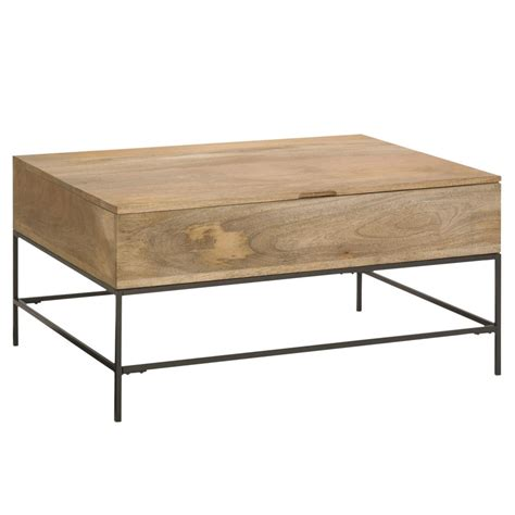 Rustic Coffee Table With Storage Trend Alert Industrial Chic Completehome