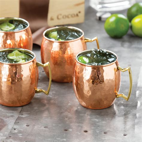Hammered Copper Moscow Mule Mugs, All Gifts: Olive & Cocoa