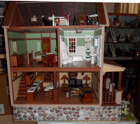 doll house austin craftsman house interior dollhouse interiors pinterest craftsman dollhouses and miniatures