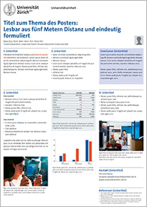 Corporate Design Vorlagen Uni Würzburg uzh das corporate design der universit 228 t z 252 rich vorlagen f 252 r wissenschaftliche poster