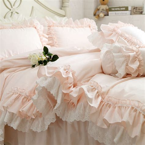 Bed Cover Wedding Import 3 new embroidery luxury layers bedding set sweet princess
