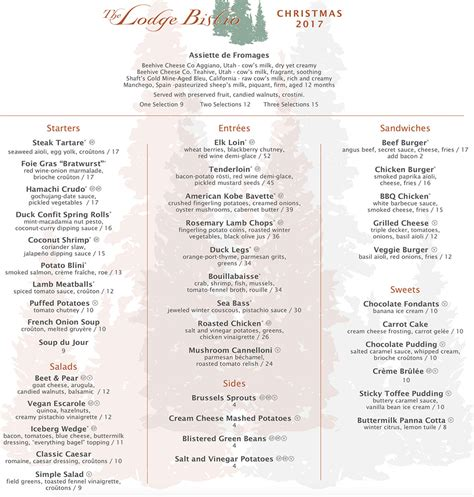 new year 2017 menu and new years 2017 menu slc menu