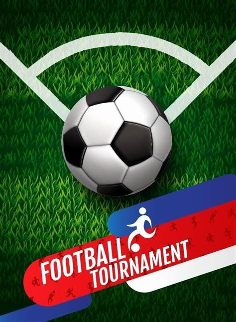 football tournament poster template  awesome football tournament poster vector vector cover