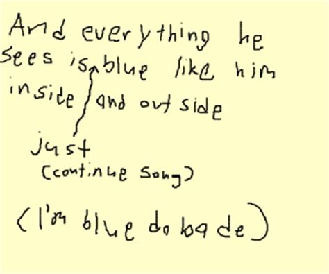 blue his house with a blue little window yo listen up here s a story contd