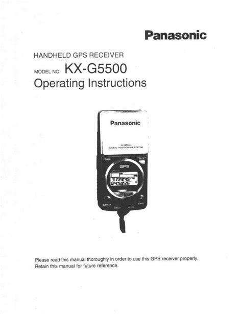 panasonic gps free pdf for panasonic kx g5500 gps manual