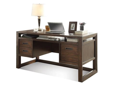 riverside home office computer desk 75831 hickory