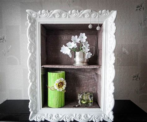 diy shelf decorations cheap diy home decor idea decorative cardboard wall shelf