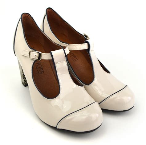 the dusty in patent retro t bar shoe by