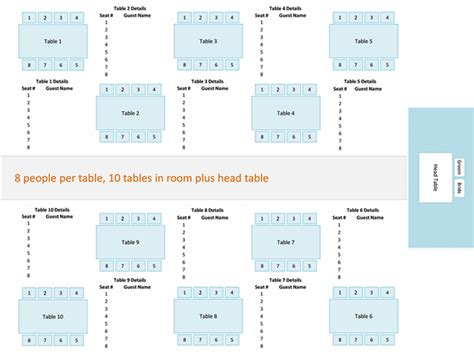 wedding reception seating chart business charts templates