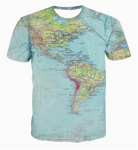 Tshirt World Map new fashion the world map t shirt printing 3d t shirt